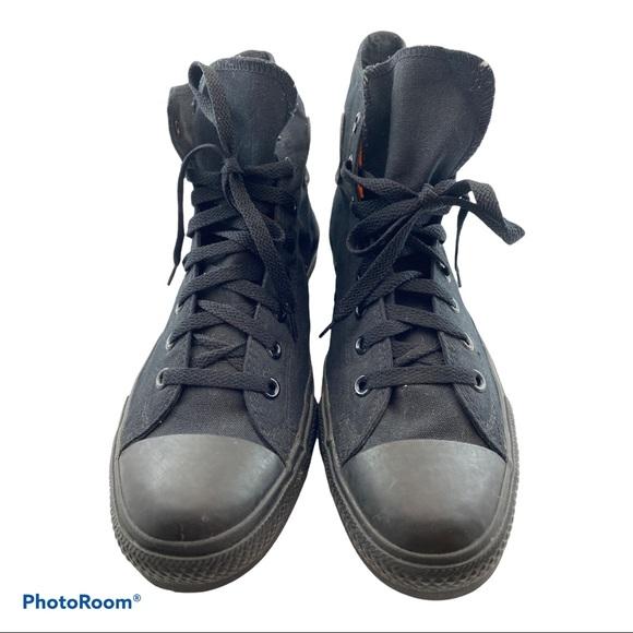 Converse Black on Black High Top Chucks Size 11